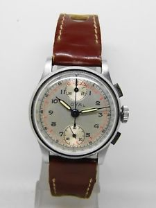 【送料無料】chronographe suisse loyal mouvement venus 170 ,vintage chrono 19401950
