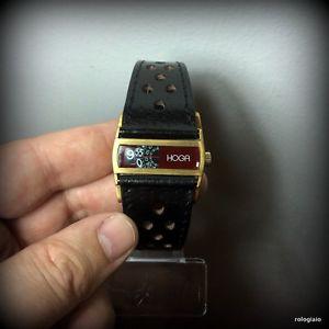 orologio saltarello hoga vintage meccanico directime cinturino handmade