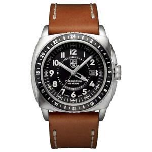 【送料無料】luminox 9427 p38 lightnight 2 time zone pilot watch