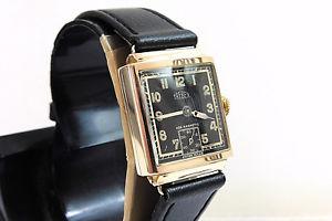 art deco trebex 9ct gold gents wristwatch 1938 edinburgh