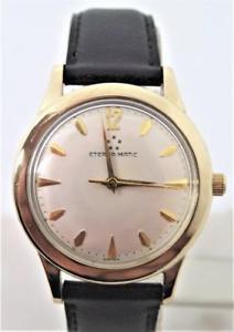 【送料無料】vintage mens 14k gf eternamatic automatic watch 1950s cal 1420u* exnt* serviced