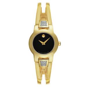【送料無料】movado womens quartz watch 0606895