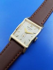 【送料無料】vintage 1940 mans longines harrison 14kt solid gold hand winding fully serviced