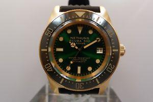 【送料無料】nethuns scuba 500 sb512 500m bronze diver 42mm ceramic bezel