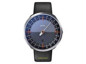24 stunden uhr mit einem zeiger botta uno 24 schwarz einzeigeruhr 45mm gro