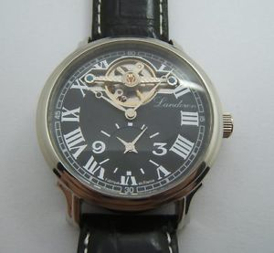 【送料無料】chronographe landeron gmt acier automatique made in france ca