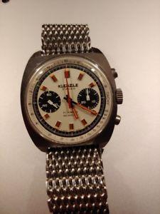 kienzle chronograph valjoux 7733 oversize steel case perfect orologio cronografo