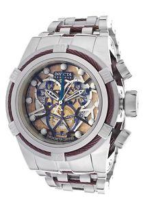 【送料無料】invicta 13750 bolt reserve chronograph steel bracelet watch authorized dealer