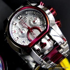 【送料無料】invicta bolt zeus magnum burgandy 52mm dual swiss movt chrono steel watch