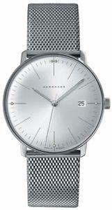 【送料無料】authorized dealer junghans 041446344 max bill quartz stainless steel watch