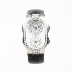 【送料無料】philip stein stainless steel leather teslar watch