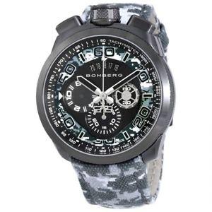 【送料無料】 mens bomberg bs45chpgm0193 bolt68 swiss chronograph camouflage watch