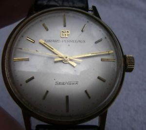 【送料無料】vintage mens girardperregaux seahawk 14k gold watch17j manualdated 1968