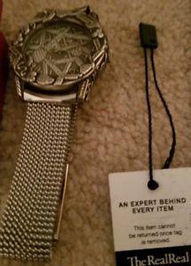 送料無料 vintage john hardyalfex large sterling silver 925 watchrare model4874fgYb76y
