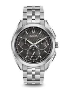 【送料無料】bulova mens curv chronograph watch 96a186 brand