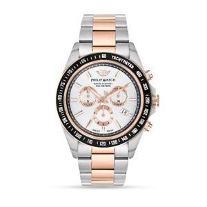【送料無料】orologio philip watch caribe r8273607006 uomo watch cronografo bicolore oro rosa