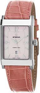 【送料無料】eterna 849141801d eternamatic womens pink leather swiss automatic watch