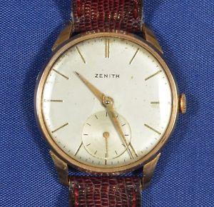 vintage zenith 18k gold calibre 40 manual wind hokushin -www ...