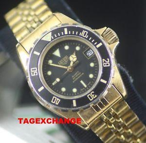 【送料無料】heuer ladies gold plated watch ladies version of the wolf of wall st model