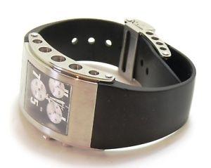 jorg hysek k102 kilada mens chronograph quartz watch stainless steel mint