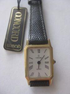 【送料無料】vintage ladies concord 14k yellow gold strap watch