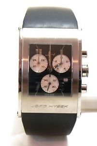 jorg hysek k102 kilada mens chronograph quartz watch stainless steel mint