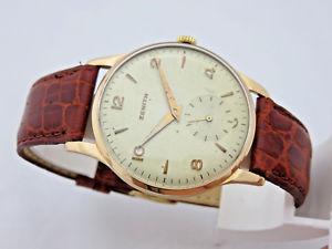 【送料無料】zenith in oro 18 kt anni 50 manuale orologio uomo 35 mm revisionato