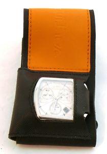 voltime chronograph white, quartz with rare scuba strap mint