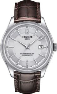 【送料無料】 tissot ballade powermatic 80 mens brown leather strap watch t1084081603700
