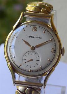 【送料無料】neues angebotvintage girard perregaux gp watch  14k solid gold case