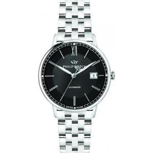 【送料無料】orologio automatico uomo philip watch truman r8223595002 acciaio nero swiss made