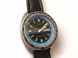 【送料無料】vintage self winding daydate clinton diver world time watch