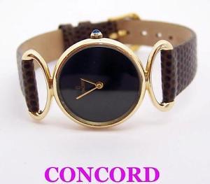 【送料無料】solid 14k yellow gold concord ladies quartz watch 358227* exlnt cond* serviced