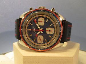 【送料無料】chronographe racing neri valjoux 7736, rare vintage