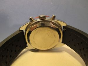 chronographe racing neri valjoux 7736, rare vintage