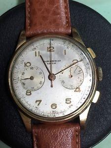 【送料無料】chronograph vintage baume amp; mercier 18k landeron 48 heavy case