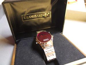 【送料無料】vintage uranus led chronograph watch orologio unica edizione rarissimo funziona