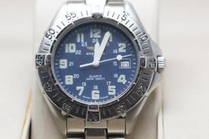 【送料無料】genuine breitling gents wristwatch reference a57035 ready to wear