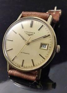 【送料無料】longines 633 automatic vintage watch uhr cal l6221 solid 18k yellow gold 35mm