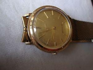 【送料無料】vintage wrist watch lecoultre manual cal k480cw,14k solid gold case,swiss 1950