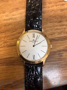 送料無料 vintage baume amp; mercier mens 18kt yellow gold on leather strap watch mv045154hQdtrCxBso