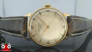 orologio longines 27ms del 1950 cassa oro 18kt carica manuale