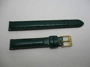 【送料無料】bracelet montre en lezard de marque morellato couleur vert taille 14 mm
