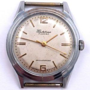 【送料無料】old 1950s soviet stolichnie kirovskie windup watch serivced *us seller* 778