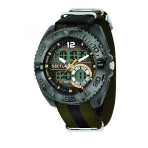 【送料無料】orologio solo tempo, digitale uomo sector ex99 r3251521003 marrone amp; blu