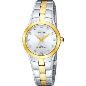 【送料無料】pulsar womens gold stainless steel quartz watch white display bnib warranty
