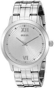 【送料無料】guess u0634l1 womens vintage inspired dressy stainless steel analog watch