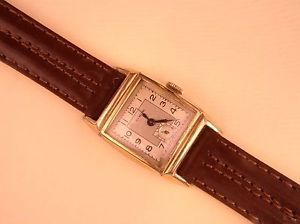 【送料無料】vintage evkob 1940s elegant mansladys 10k gf watch, running keeping time