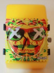 【送料無料】stamps zifferblatt chilly skull 103800 stamps belta classic yellow gelb