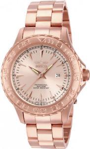 【送料無料】invicta mens pro diver quartz 200m rose gold tone stainless steel watch 15470